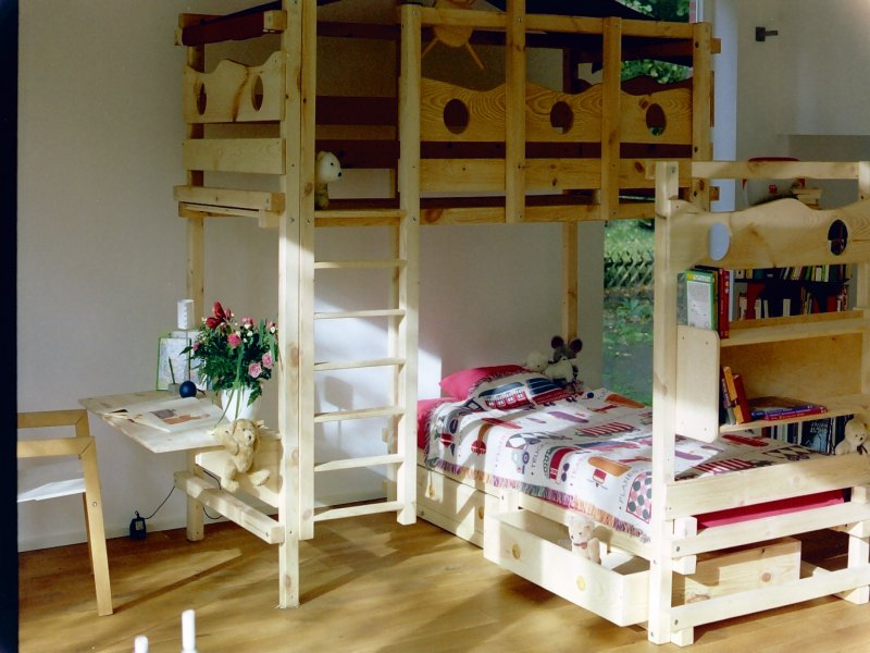 hochbett kinderbett etagenbett babybett abenteuerbett hochbetten spielbett piratenbett umbaubett. Black Bedroom Furniture Sets. Home Design Ideas