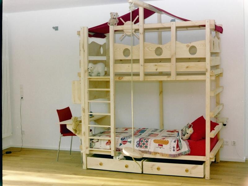 Etagenbett Piratenbett : Hochbett kinderbett etagenbett babybett abenteuerbett hochbetten
