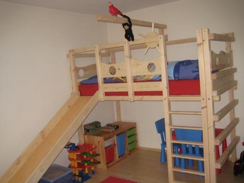 Etagenbett Seitlich Versetzt : Hochbett kinderbett etagenbett babybett abenteuerbett hochbetten
